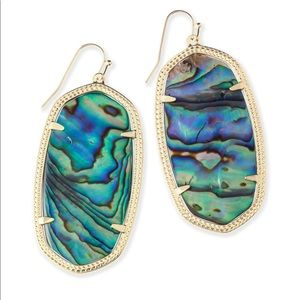 Danielle Earrings In Abalone and Gold